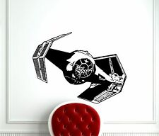 TIE Fighter Wall Decal Star Wars Spaceship Vinyl Sticker Art Decor Mural (72m)