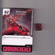 DICE MASTERS DC WAR OF LIGHT COMMON #37 ATROCITUS ATROS OF RYUT CARD & DICE