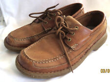 RJ COLT Brown Leather Loafers Shoes Business Casual Mocassin Toe Men's 11.5