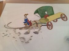 Disney Mickey's Christmas Carol Donald Duck on his horse and carriage
