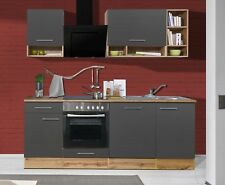 Cucinino cucina Blocco incasso 220 cm Quercia selvatica Grigio Respekta