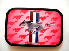 Official License Mustang Pink Color Belt Buckle Famous