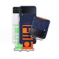 Samsung Oficial de Silicona Funda Con Correa Para Galaxy Z Flip 3 Tacto Suave! nuevo!