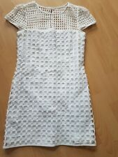 Milly Blanco De Algodón Manga Casquillo Cambio Vestido Talla 8