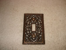 Vintage Metal Outlet Single Switch Cover Plate