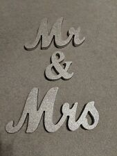 Mr & Mrs Shining Free Standing Letter Sign Table Large Wooden Wedding Decoration