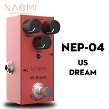 NAOMI US Dream Distortion Electric Guitar Effects Pedal DC 9V True Bypass