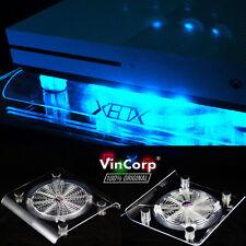 VINCORP ® USB Design Kühler Lüfter blau LED Ständer Xbox One S One X 360 Scorpio