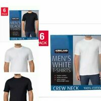 Kirkland Signature Men's Crew Neck T-shirts Cotton White,  4/5/6 PACK