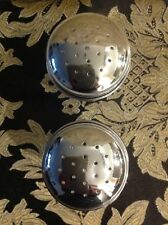 Retro Salt and Pepper Shakers With Stainless Tops