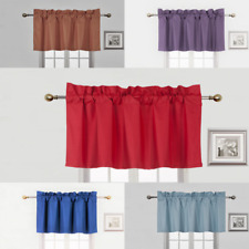 1 STRAIGHT WINDOW VALANCE TOP DECOR FOAM LINED BACKING ROD POCKET MANY COLORS