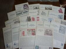 """LOT de 23 documents philateliques """" RELIGIONS """" années 1975 / 1985"""