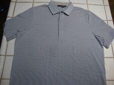 Polo RLX Ralph Lauren Golf Polo Shirt Gray White Striped Lake Merced SF Mens XL