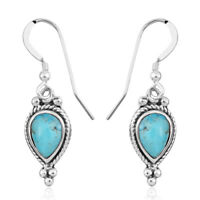 Elegant Sothwest Jewelry 925 Sterling Silver Turquoise Dangle Drop Earring Pairs
