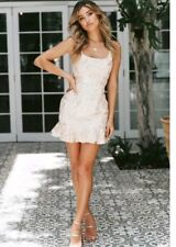 Angel Biba Sexy Champagne Short Party Dress Size UK 8