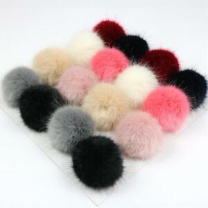 Women's Faux Fur Ball Pompon 7cm Ball DIY Accessory Clothing Decor Multicolor
