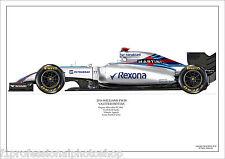 2016 Felipe Massa Williams FW38 ltd ed./ 250 signed & numbered by artist
