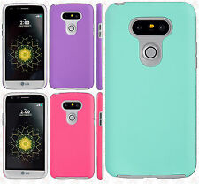 For LG G5 Rubberized Anti-Slip Hybrid Rubber Silicone Case Cover +Screen Guard