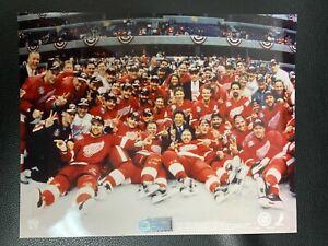 STEVE YZERMAN 1997-98 DETROIT RED WINGS STANLEY CUP CHAMPIONS 8 X 10 LICENSED