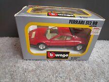Vintage BURAGO 1/24 FERRARI 512 BB RED Diecast 0133