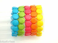 Pretty Stretchy Elasticated Bead Bracelet Lots of Summer Colours Ladies or Girls