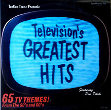 TELEVISION'S GREATEST HITS -65 TV THEMES FROM 50'S & 60'S- TEE VEE TOONS - 2 LPS