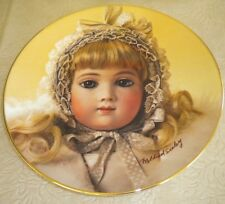 """Collector 8.5"""" Plate French Doll Mildred Seeley Thuillier's Snow Angel Juneau"""