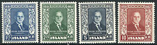ICELAND # 274 - 277 VF Light Hinged Set - SVEINN BJORNSSON PRESIDENT - S1454