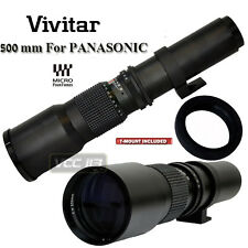 VIVITAR HD 500MM TELEPHOTO F8.0 LENS FOR PANASONIC GF5 GX1 GH2 HF3 G3 GF2 GG5K