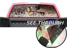P10 Deer Rear Window Tint Graphic Decal Wrap Back Pickup Graphics