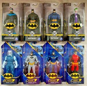 "DC BATMAN, 6""  Figures, Joker, batman ( 3 vars), Nightwing, Mr Freeze, Robin"