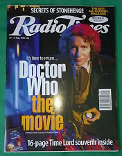 Rare: Radio Times for Paul McGann Dr Doctor Who film VGC  Part sale4charity do!