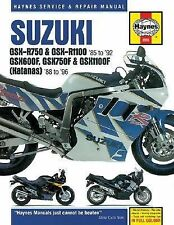 1985-1992 Suzuki GSX-R750, R1100 & 1988-1996 GSX600F, GSX750F... Hardback Repair