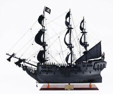 "Black Pearl Caribbean Pirate Tall Ship Wooden Model 28"" Fully Assembled New"
