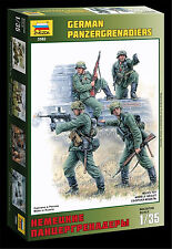 Zvezda, 3582, 1:35,Deutsche Panzergrenadiere WWII , 4 Figuren, Plastikmodellbau