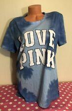 Victorias Secret PINK NWT Graphic Short Sleeve Campus Type Dye T-shirt XS