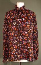Vintage Festival Nylon Retro Ladies Shirt Blouse 1970 Floral