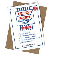 #400 CHRISTMAS CARD Rude Greeting Card funny humour joke Tesco Value Xmas Card