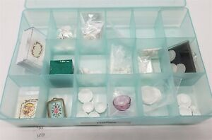 LMAS ~ Doll House Miniatures Hand Painted Artisan Platters & White Dishes