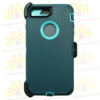 For iPhone 7 Plus Defender Heavy Duty Cover Case W/Screen Protector & Belt Clip