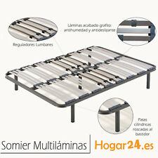 Somier Somieres multilaminas 90x190cm + patas cilindricas, tubo 40x30