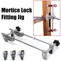 Türschloss Fitting Mortiser Jig new Fräser 3 Fräser 18/22/24M Aluminiumlegierung