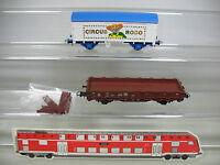 AG267-0, 5 #2x Roco H0/AC Freight Car / Stake Wagon : Circus + 3231/645-6, Nem