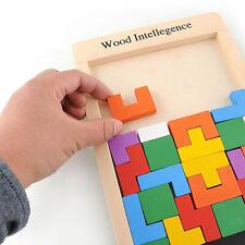 Holz Block Jigsaw Puzzle Intellegence Spiel Kinder Früh Lernspielzeug Faddish