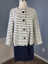 ASOS Navy Blue Stripe Colorblock 12 Jacket Blazer Excellent Career Cocktail cute