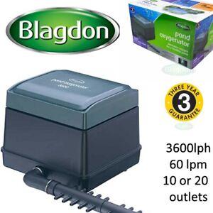 Blagdon Pond Oxygenator air 3600 lph 60lpm air pump. hydroponics