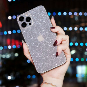 Diamond Back Cover Protector For iPhone 12 11 Pro Max Glitter Protective film