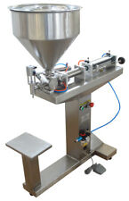 110V 5-100ml Paste Liquid Filling Machine-8 Gallon Hopper with Stand