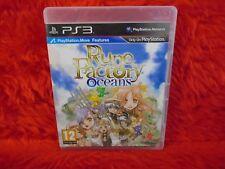 ps3 RUNE FACTORY OCEANS An RPG Adventure Game Playstation PAL UK REGION FREE