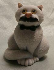 "BORDER FINE ARTS    COMIC & CURIOUS CATS ""MOVEMBER""  A27686 MINT IN BOX"